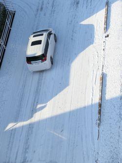 スキー場に向かう車