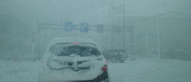 大雪での車の運転