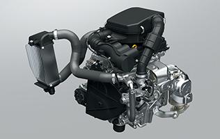 新型ジムニーのターボエンジン